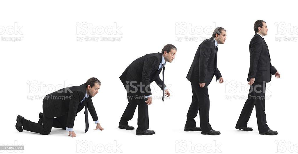 Evolution Of Businessman stock photo