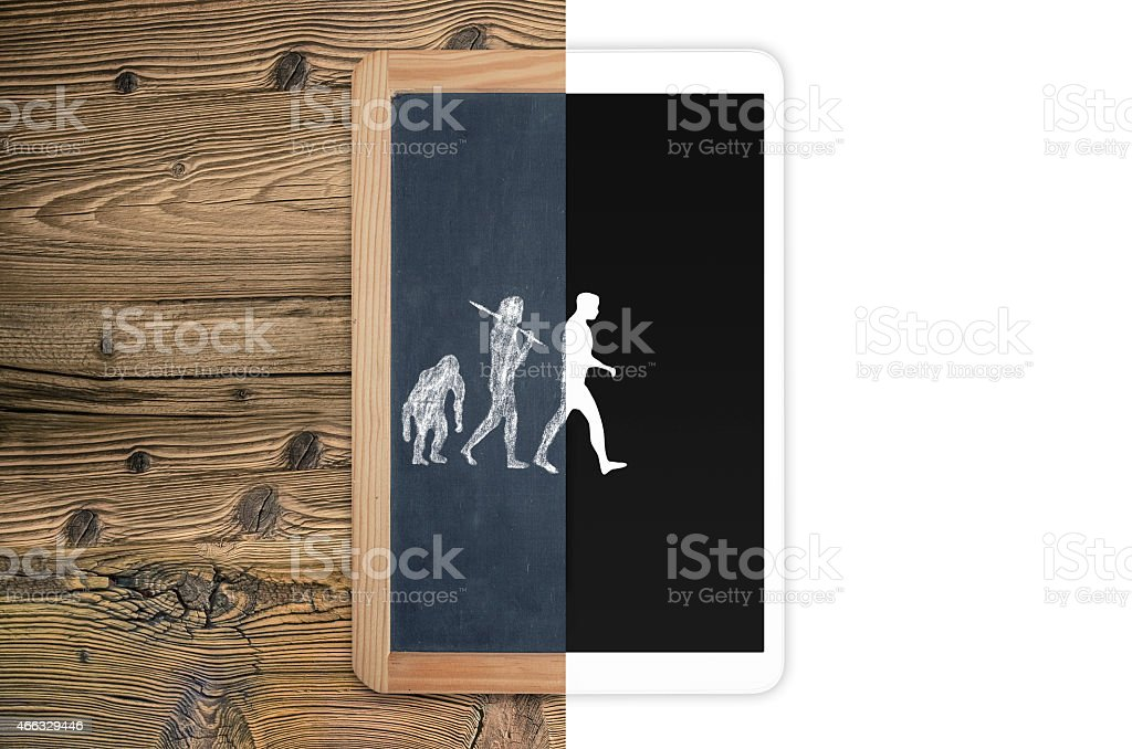 Evolution of electronic concept stock photo