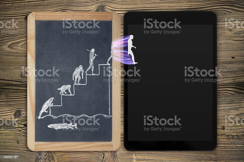 evolution of electronics stock photo