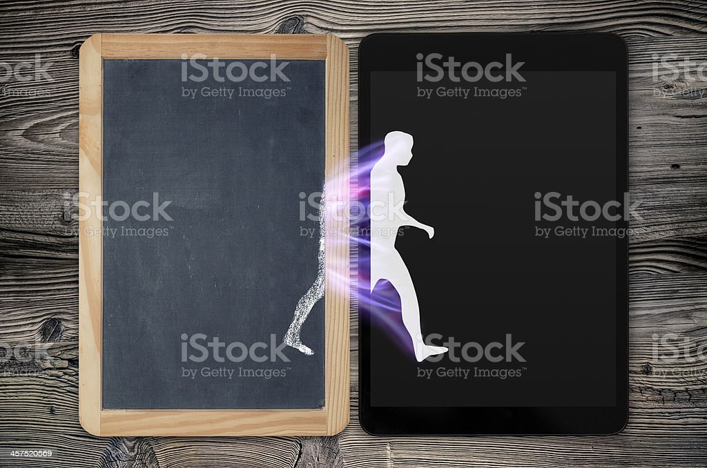 evolution of electronics stock photo