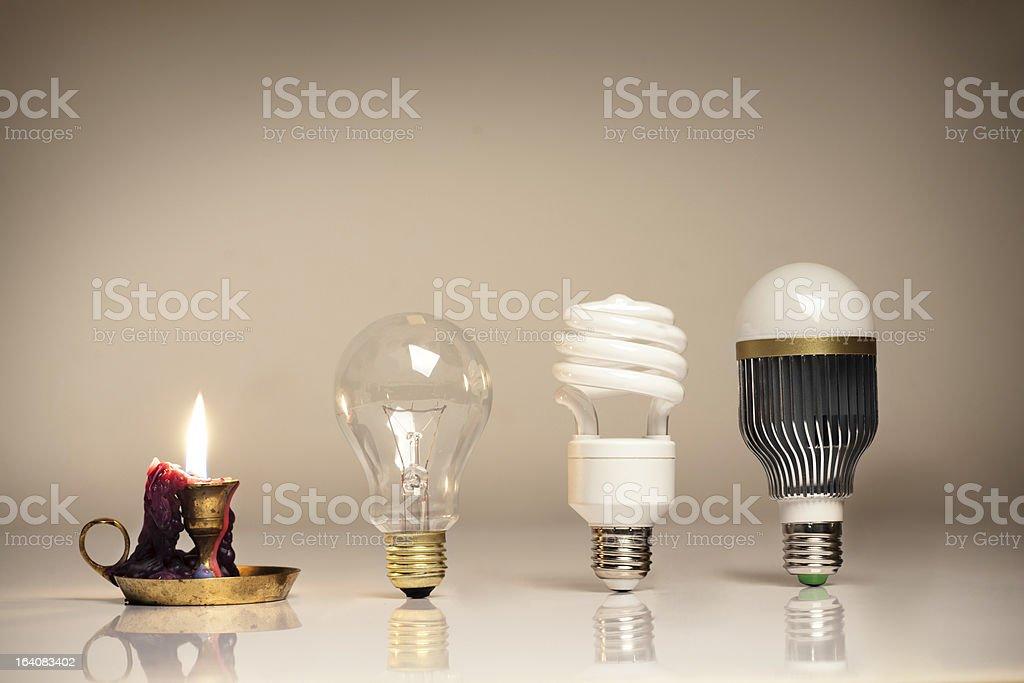 evolution of lighting royalty-free stock photo