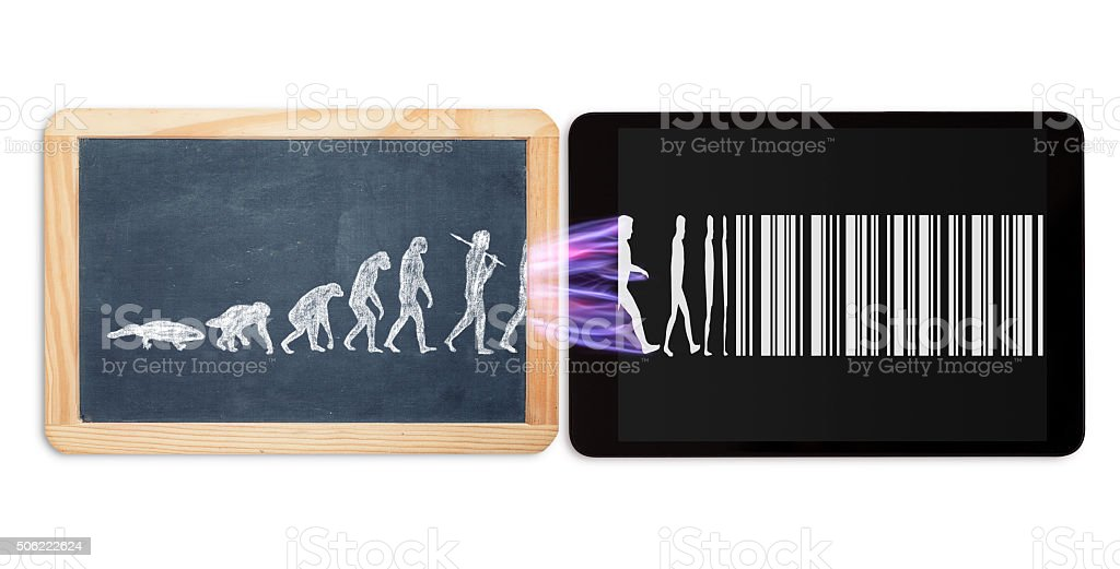 evolution of modern life stock photo