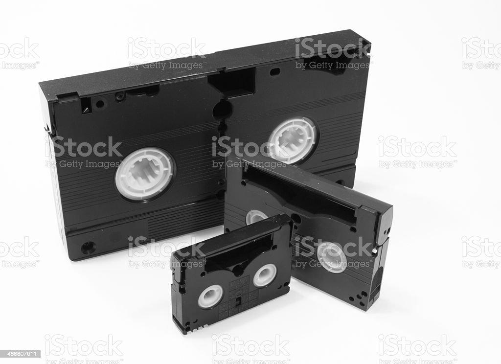 Evolution of Video Tape stock photo