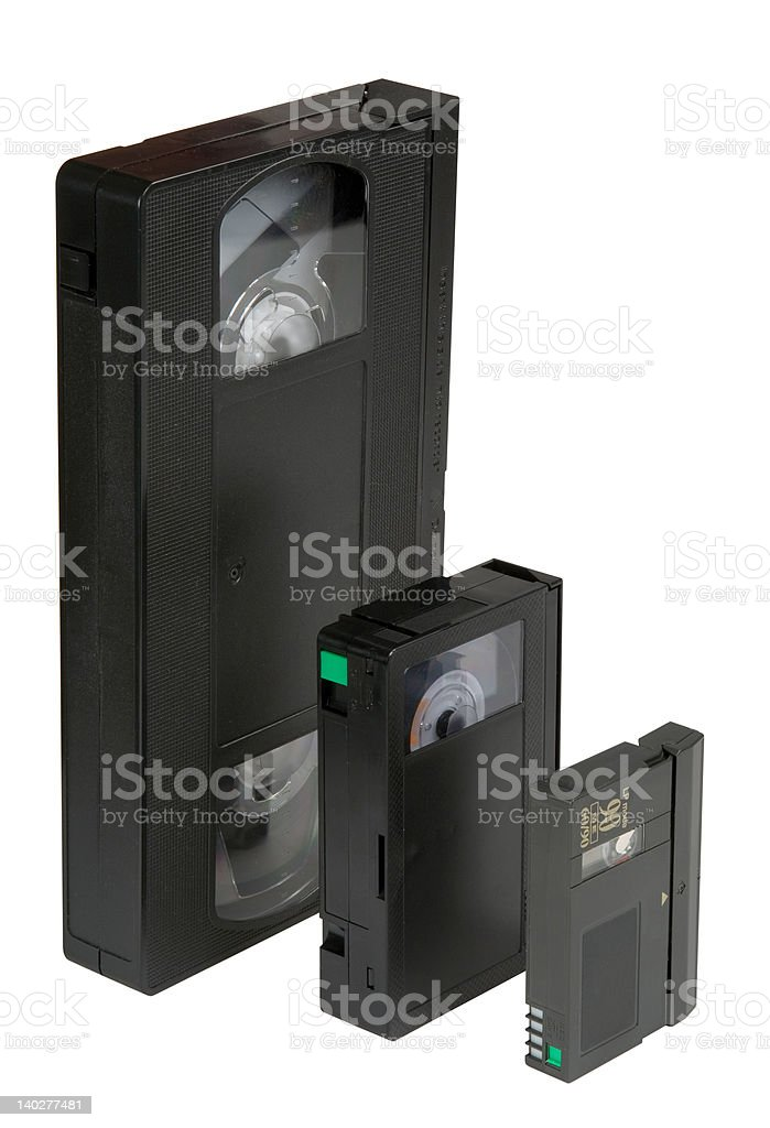 Evolution VHS royalty-free stock photo