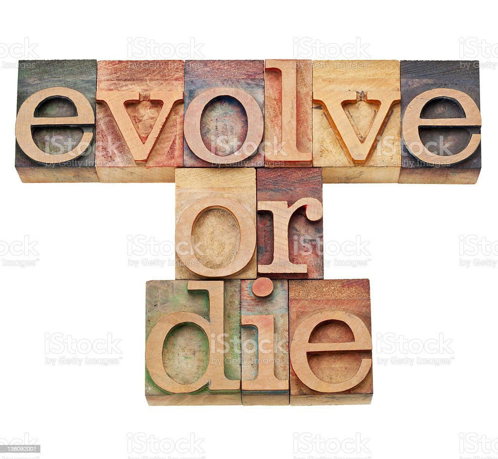 evolve or die -  evolution  concept royalty-free stock photo