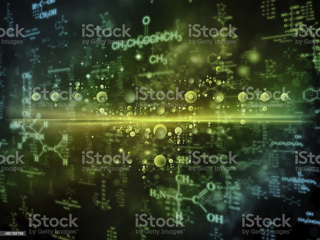 Evolving Chemistry stock photo