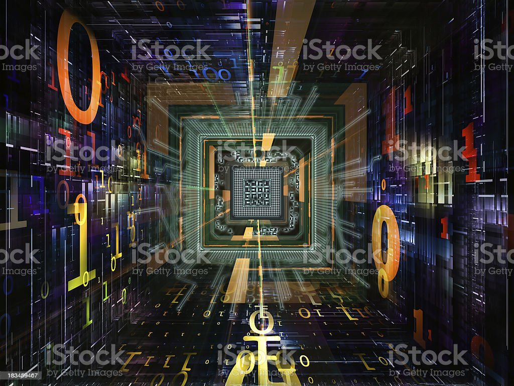 Evolving Numbers royalty-free stock photo