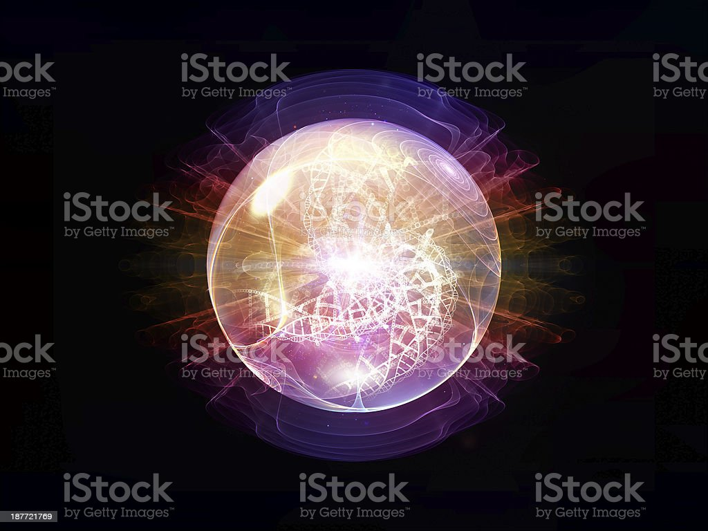 Evolving Wave Particle royalty-free stock photo