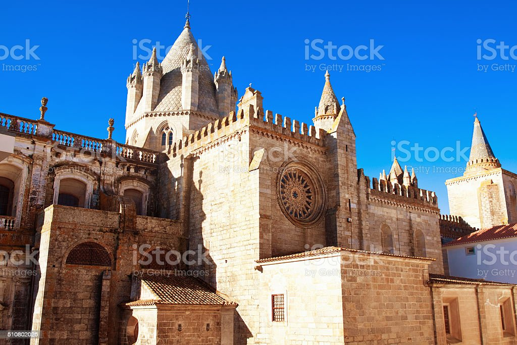catedral Evora, Portugal stock photo