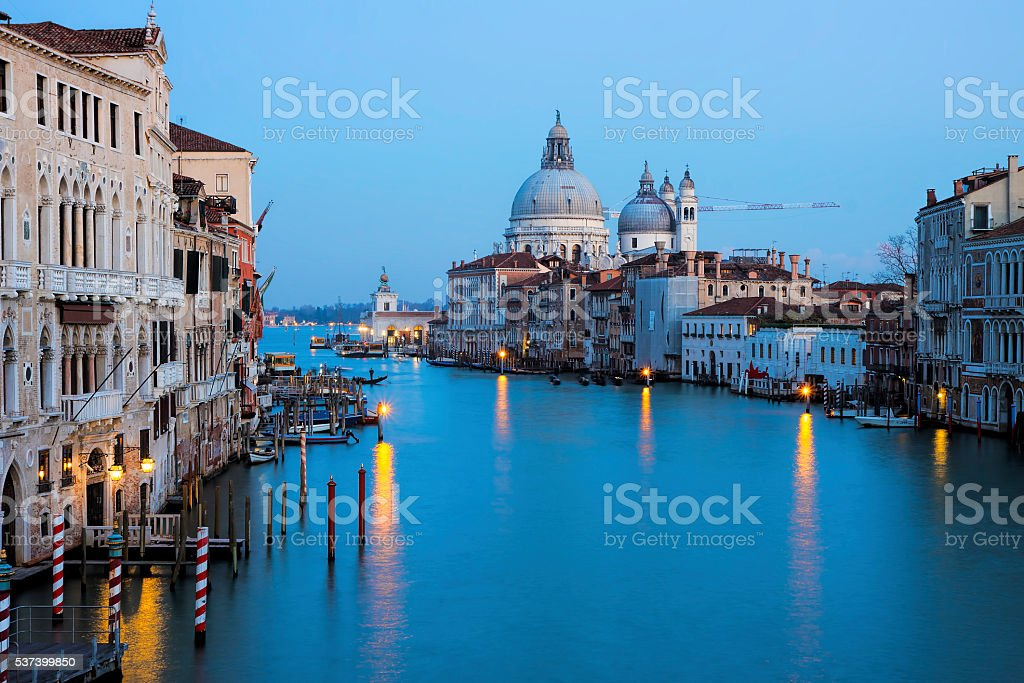 ew of the Grand Canal in Venice, Italy stock photo