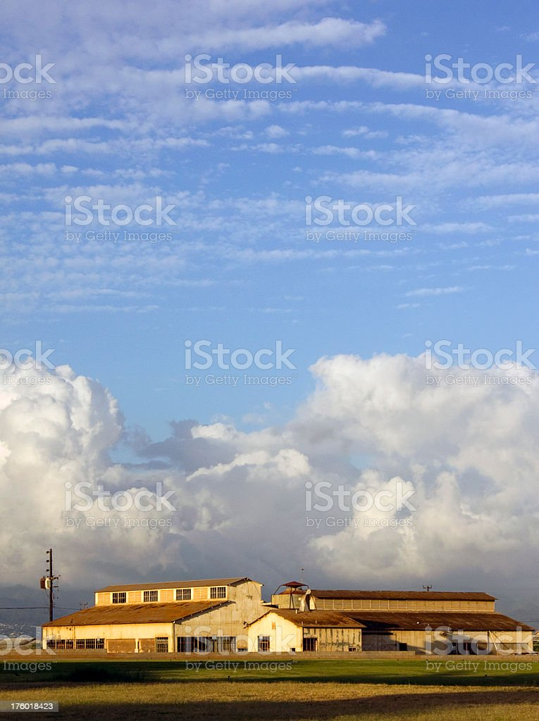 Ewa Plantation & Sky stock photo