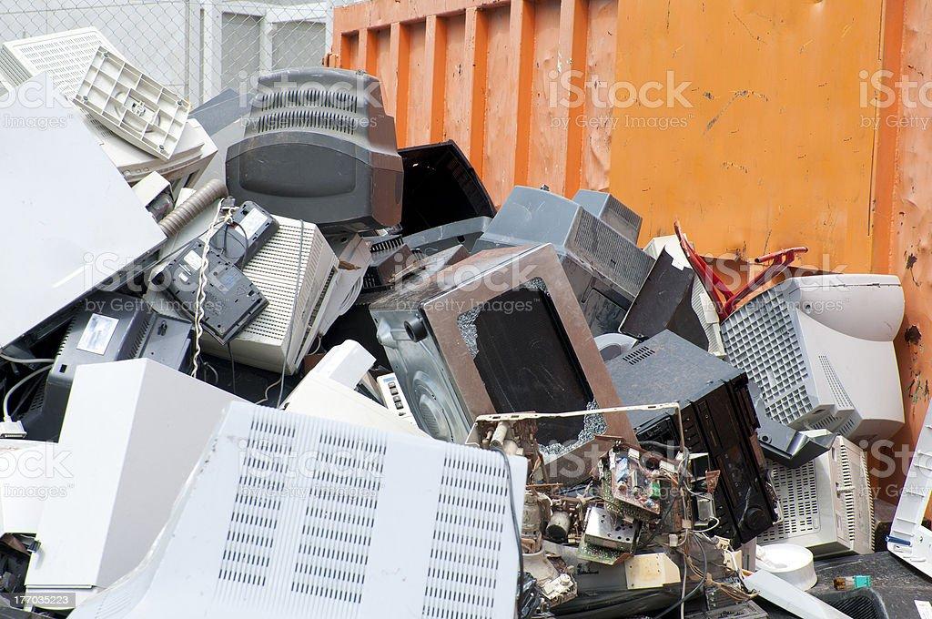 e-waste stock photo
