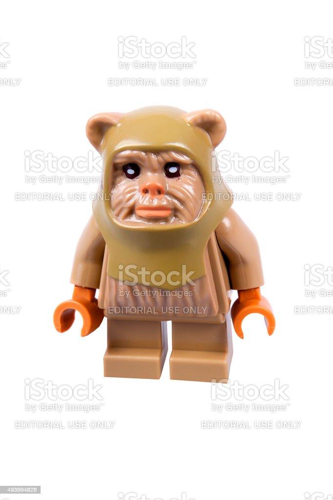 Ewok Christmas Lego Minifigure stock photo