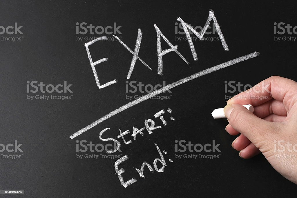 Exam Chalk Text royalty-free stock photo