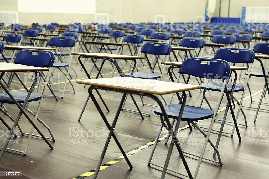 Exam hall royalty-free stock photo