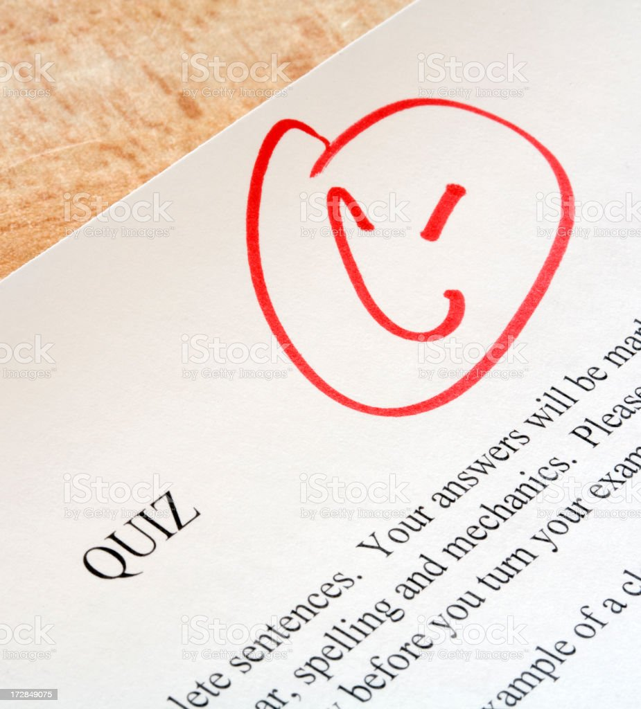 Exam Paper with C- royalty-free stock photo