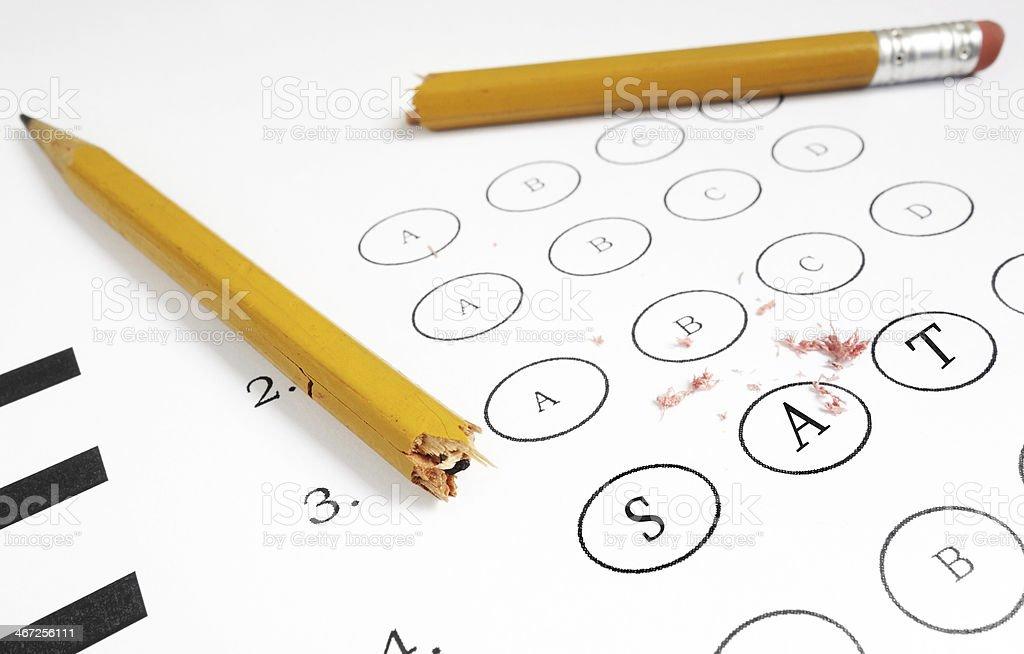 SAT exam stock photo