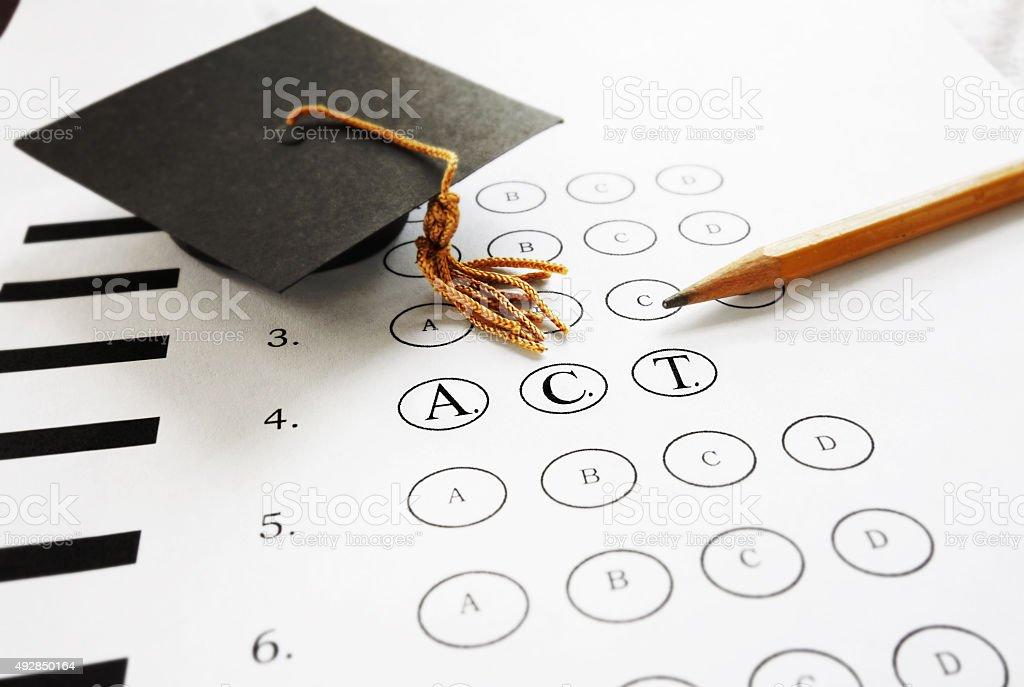 ACT exam stock photo
