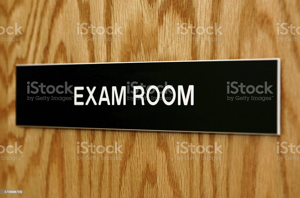 Exam Room Sign royalty-free stock photo