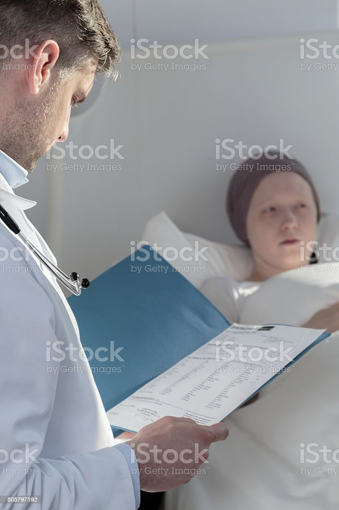 Examination of a patient stock photo