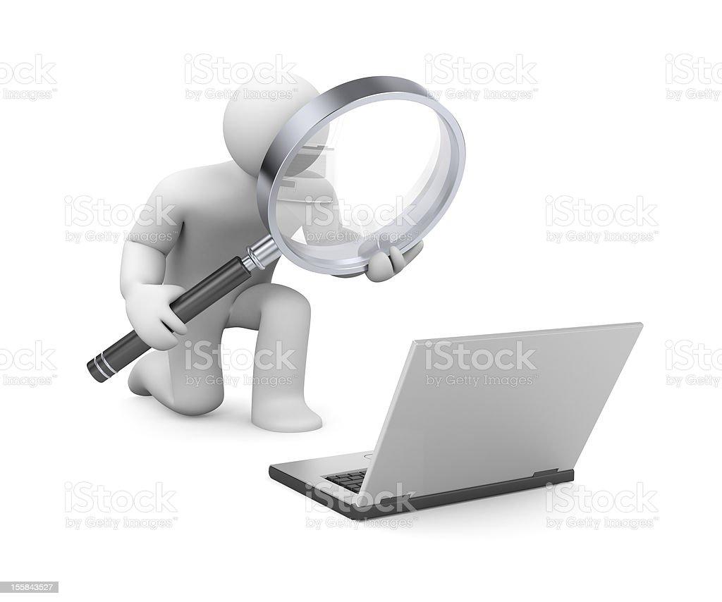 Examination of information royalty-free stock photo