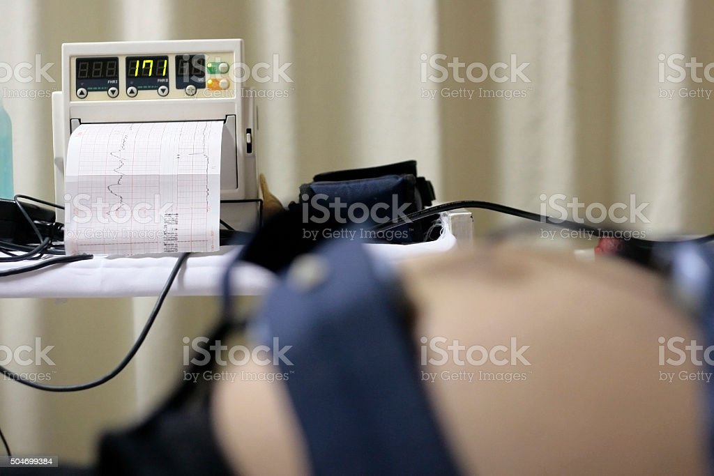 examination of the baby's heartbeat stock photo