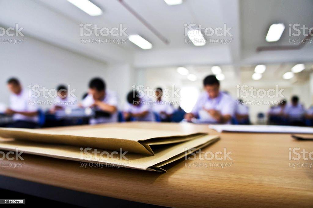 Examination stock photo