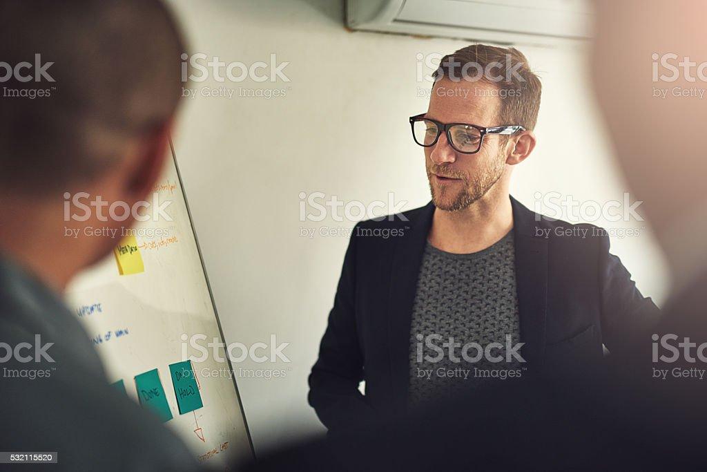 Examining all options stock photo