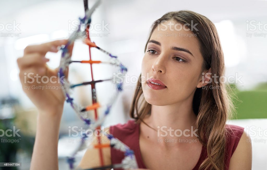 Examining the building blocks of life stock photo