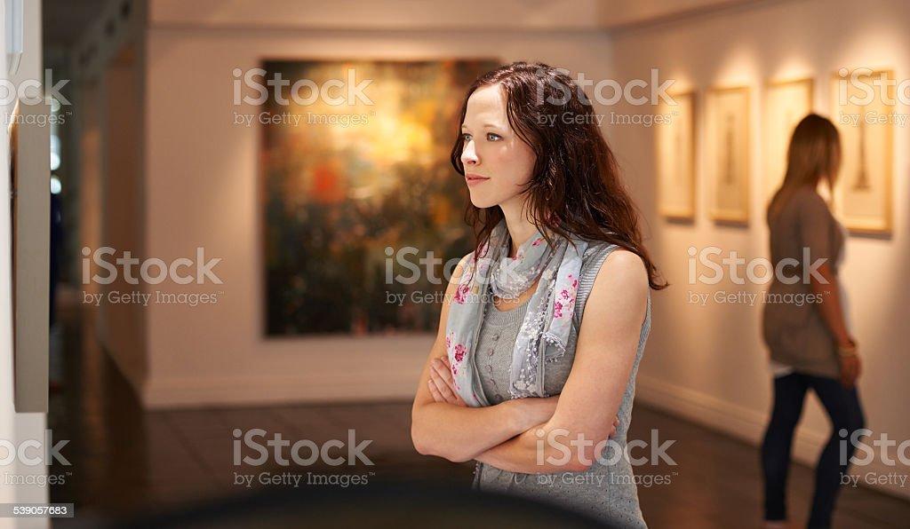 Examining the masters stock photo