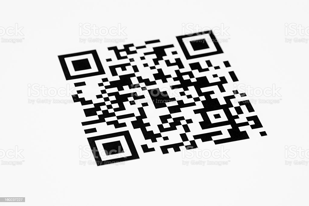 Example of a QR code. royalty-free stock photo