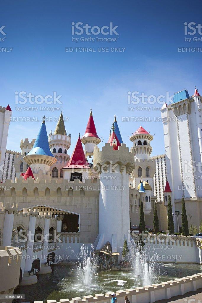 Excalibur Hotel, Las Vegas stock photo