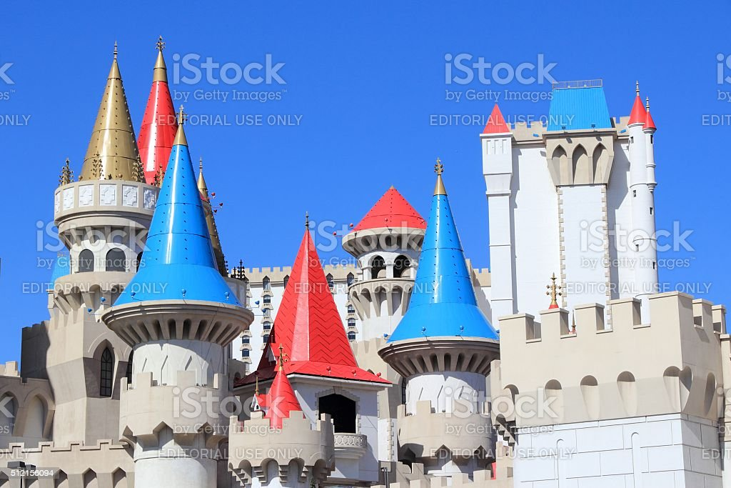 Excalibur Las Vegas stock photo