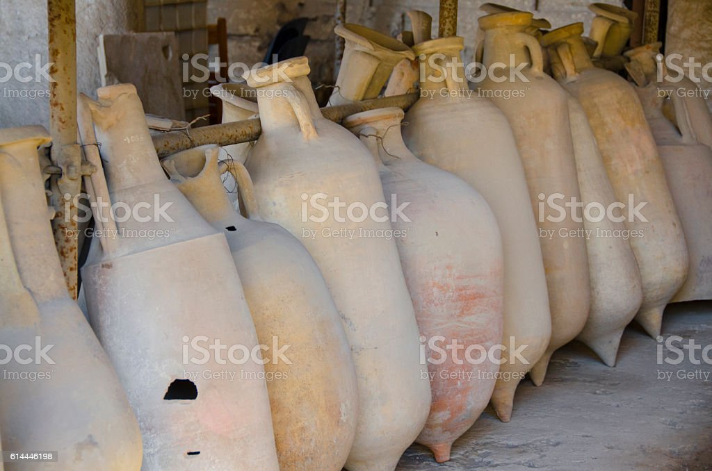 Excavated Artifacts from Pompeii, Italy stock photo