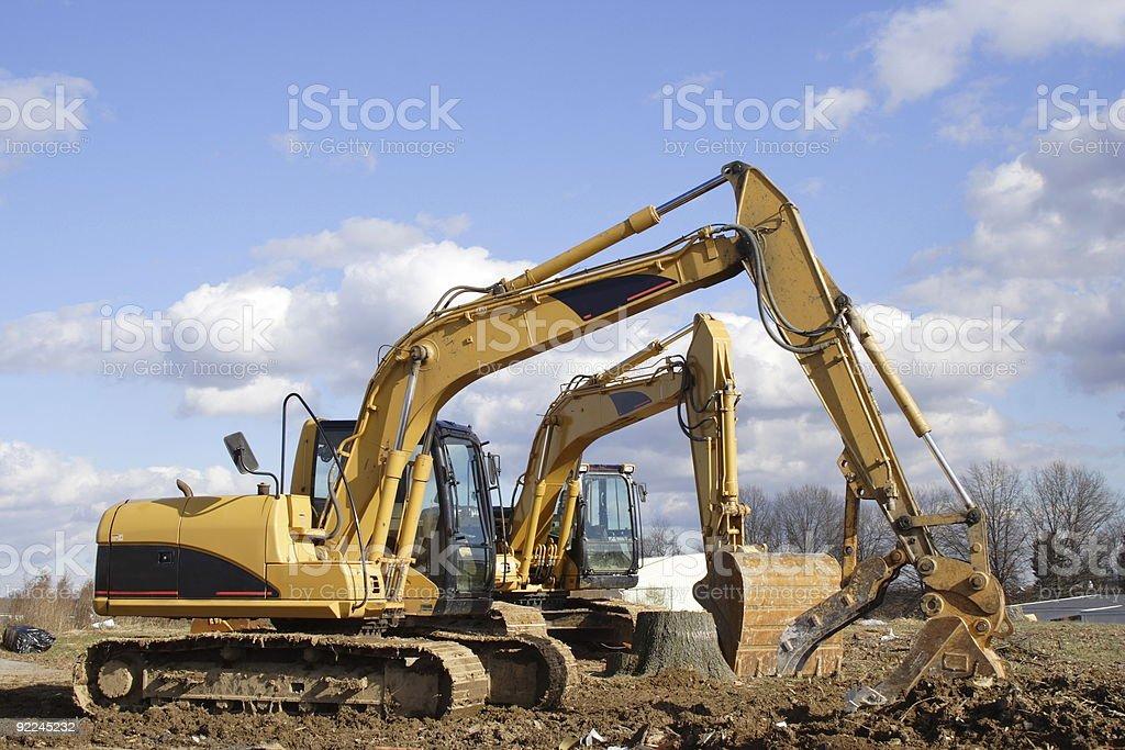 Excavating Equipment royalty-free stock photo