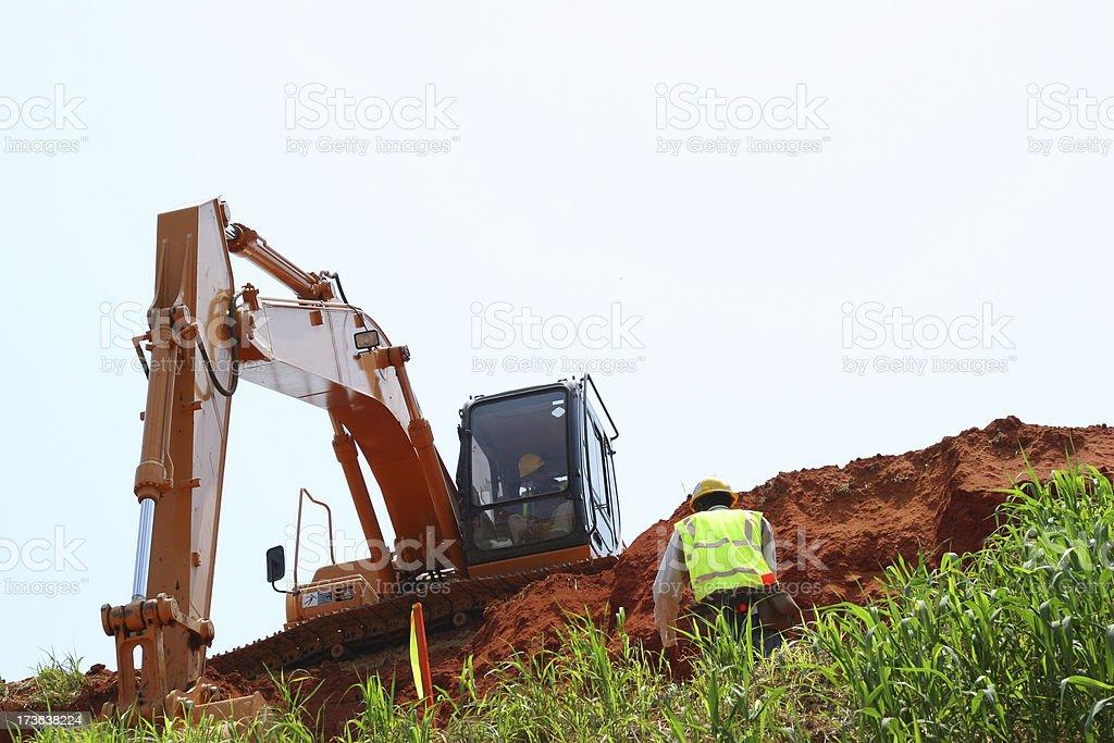 Excavating royalty-free stock photo