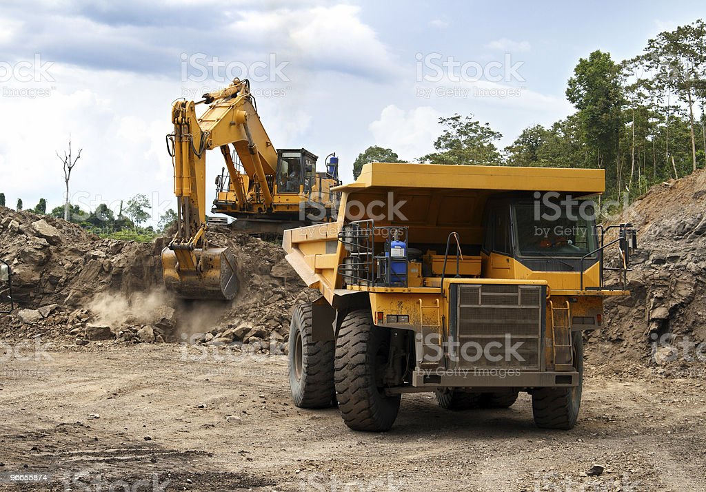 Excavation & Dump vehicle stock photo