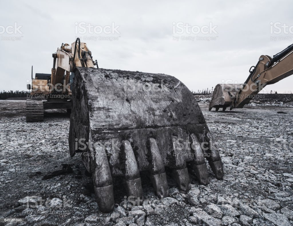 Excavation stock photo