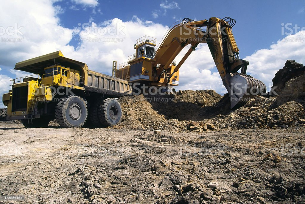 Excavation Vehicle & dump royalty-free stock photo
