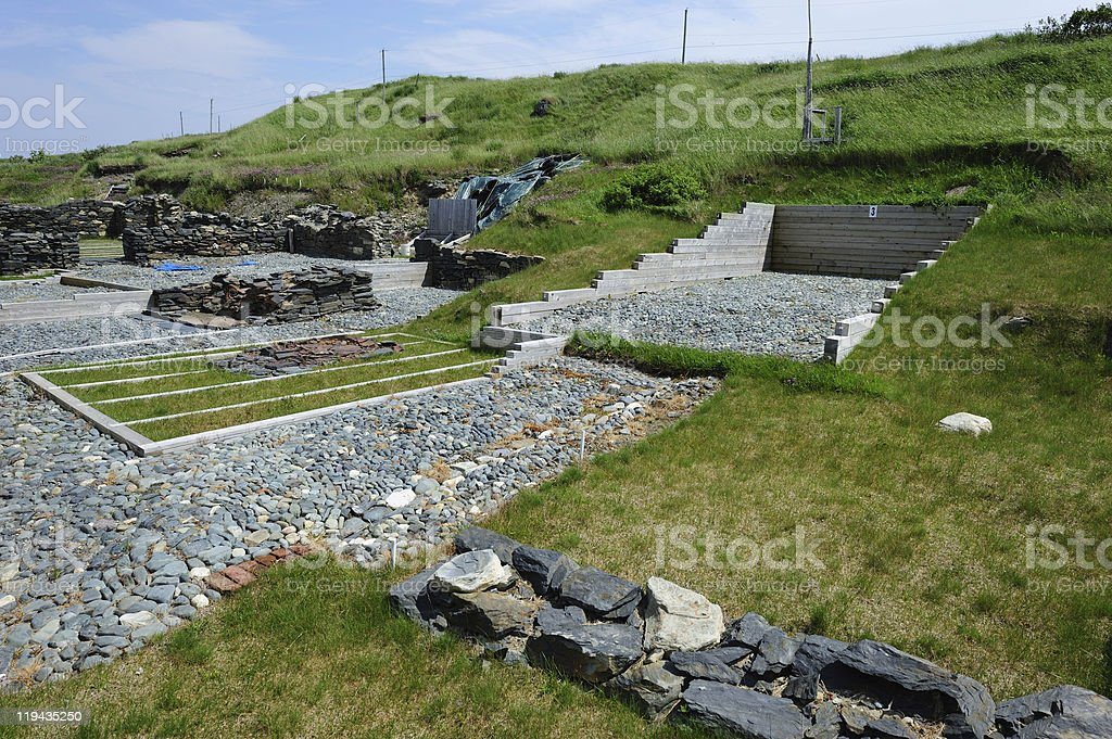 Excavations at Ferryland stock photo
