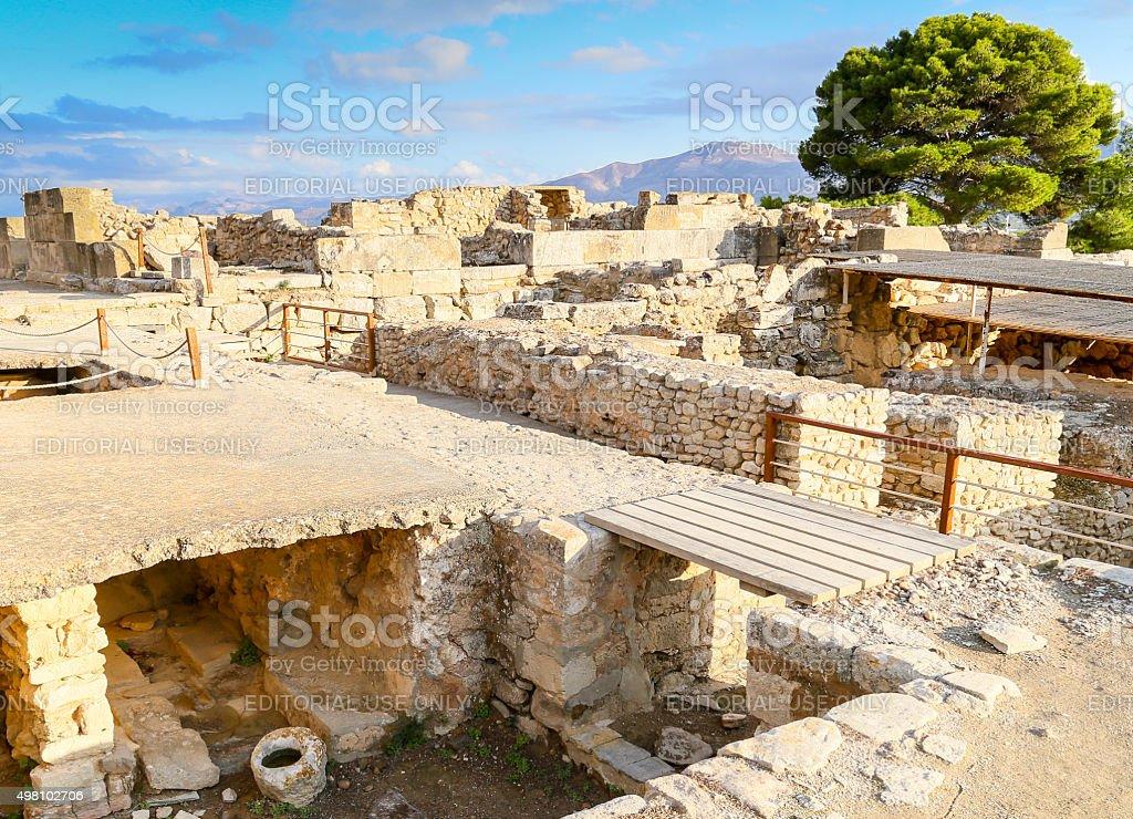Excavations in Phaistos stock photo