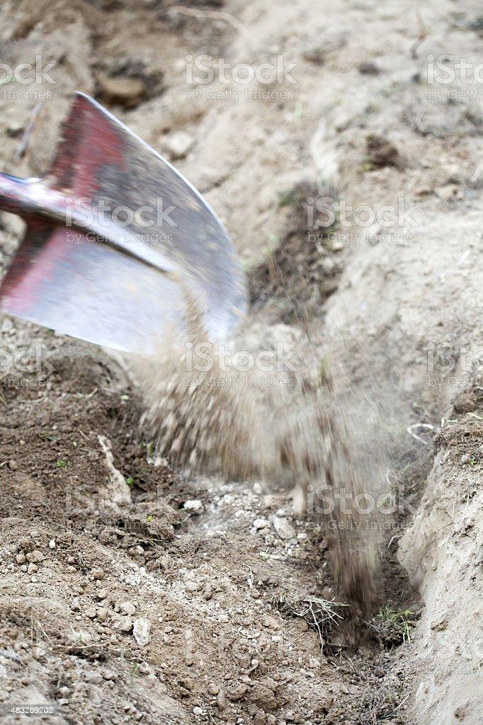 excavations stock photo