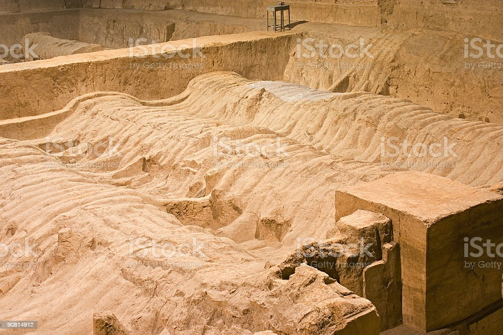 Excavaton of the Terra Cotta Warriors in Xian, China stock photo