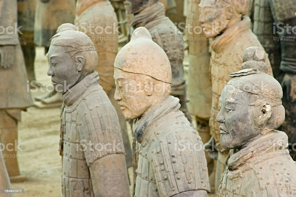 Excavaton of the Terracotta Warriors in Xian, China royalty-free stock photo