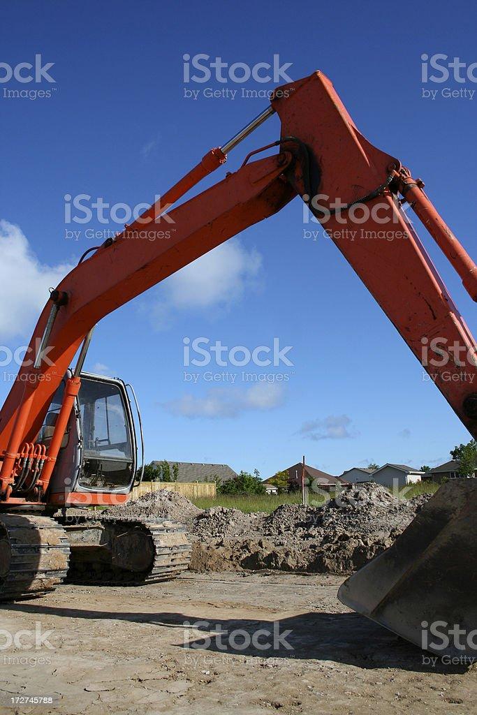 excavator arm elbow stock photo