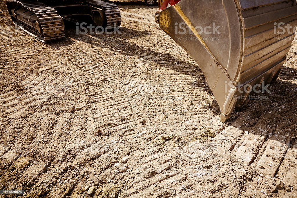 Excavator at Construction Site royalty-free stock photo