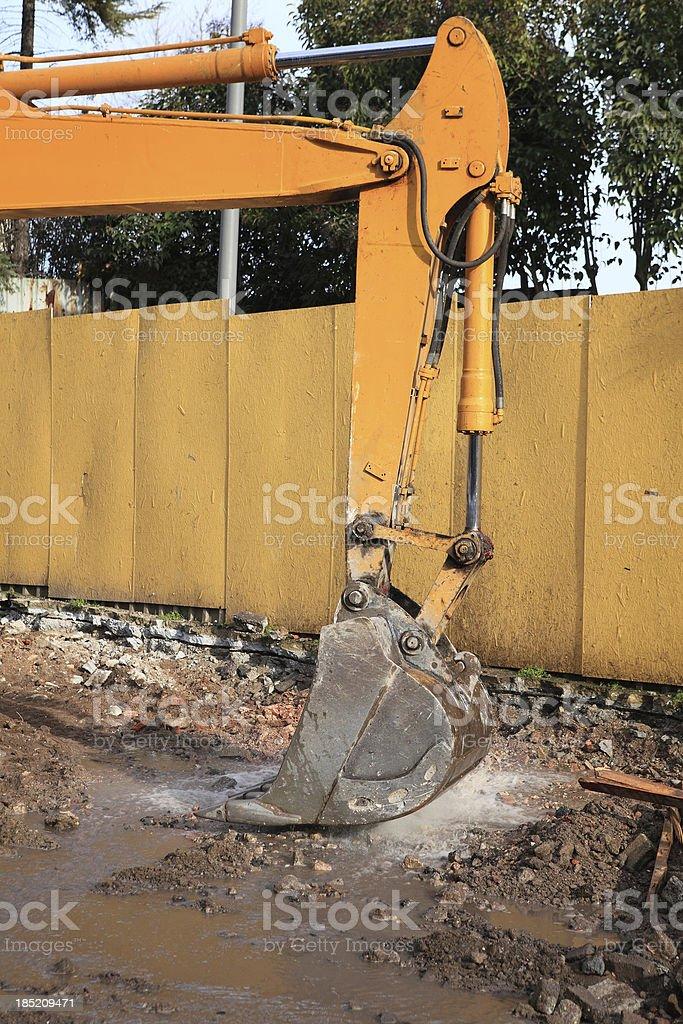 Excavator at Work royalty-free stock photo
