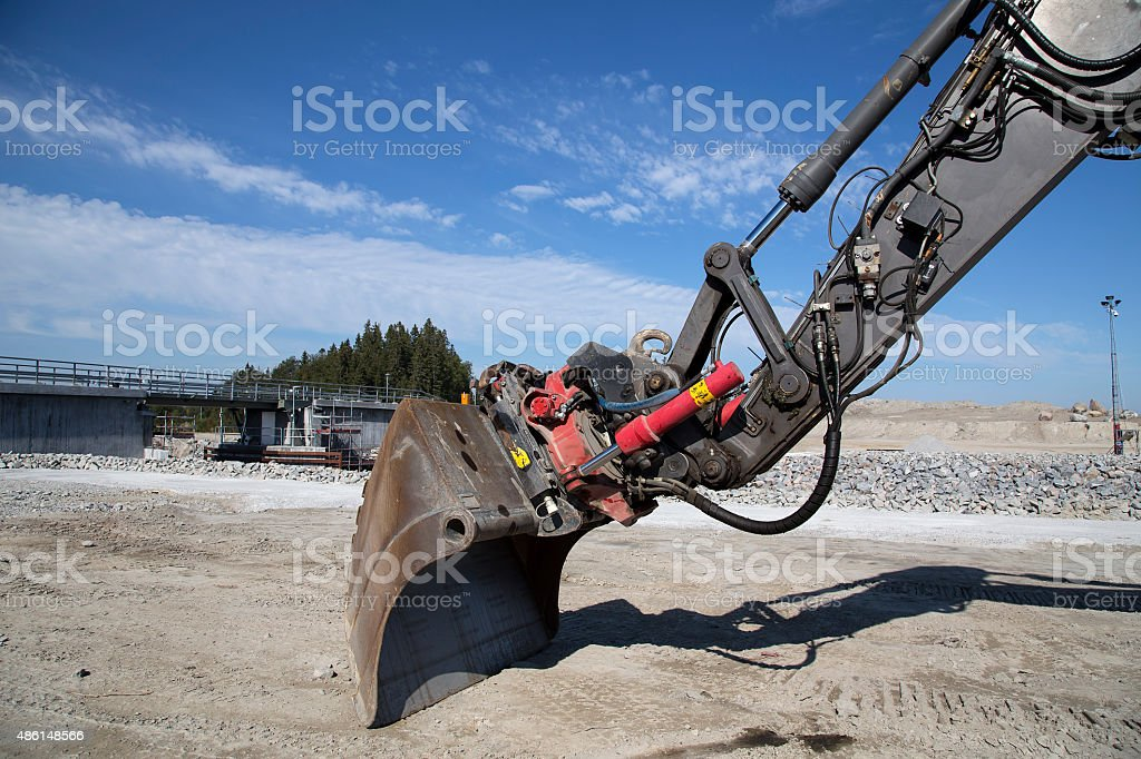 Excavator bucket from the side royalty-free stock photo