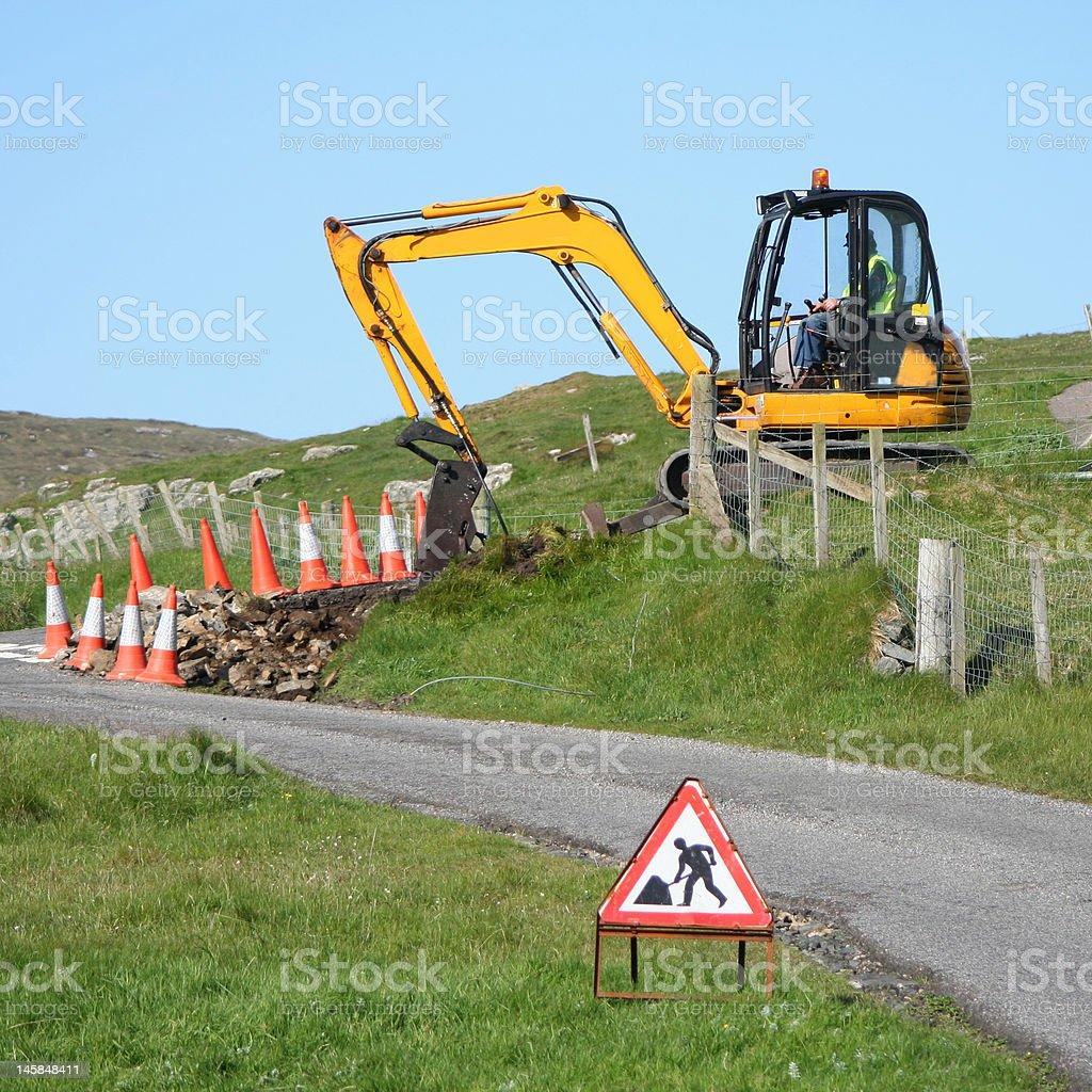 excavator digging royalty-free stock photo