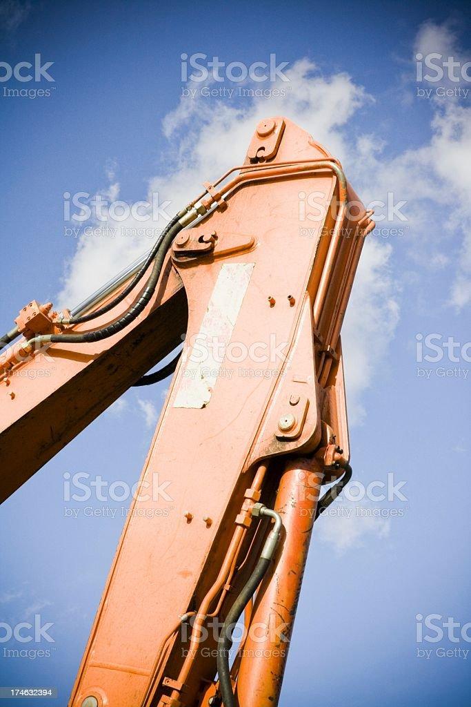 Excavator hydraulic arm royalty-free stock photo